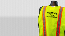 Custom Vinyl Heat Press Safety Vests