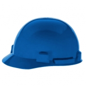 MSA 10074068 SmoothDome Hard Hat - Fas-Trac Suspension - Blue