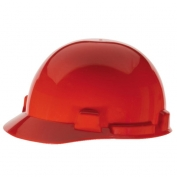 MSA 10074071 SmoothDome Hard Hat - Fas-Trac Suspension - Red