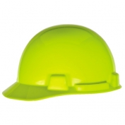 MSA 10074084 SmoothDome Hard Hat - Fas-Trac Suspension - Hi-Viz Lime