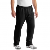 Gildan 12300 DryBlend Open Hem Sweatpants - Black