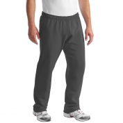 Gildan 12300 DryBlend Open Hem Sweatpants - Charcoal