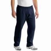 Gildan 12300 DryBlend Open Hem Sweatpants - Navy
