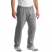 Gildan 12300 DryBlend Open Hem Sweatpants - Sport Grey