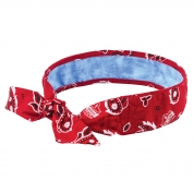 Ergodyne Chill-Its 6700CT Evaporative Cooling Bandana with Cooling Towel and Tie Closure - Red Western