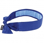 Ergodyne Chill-Its 6700CT Evaporative Cooling Bandana with Cooling Towel and Tie Closure - Blue