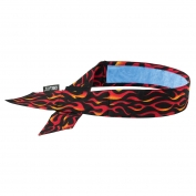 Ergodyne Chill-Its 6705CT Evaporative Cooling Bandana w/ Cooling Towel and Velcro Closure - Flames