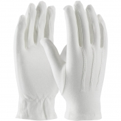 PIP 130-100WM Cabaret 100% Cotton Dress Gloves with Raised Stitching on Back - Open Cuff