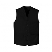 Chef Designs 1360 Button Front Vest - Black