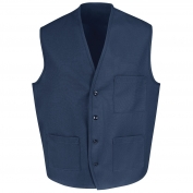 Chef Designs 1360 Button Front Vest - Navy