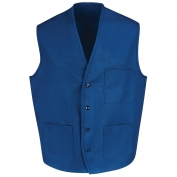 Chef Designs 1360 Button Front Vest - Royal Blue