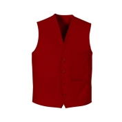 Chef Designs 1360 Button Front Vest - Red