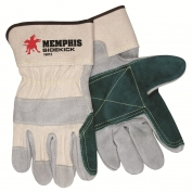 Memphis 16012 Sidekick Select Side Double Leather Palm Gloves - 2.5\