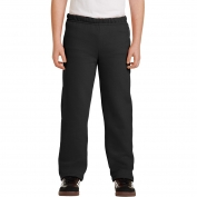 Gildan 18400B Youth Heavy Blend Open Bottom Sweatpants - Black
