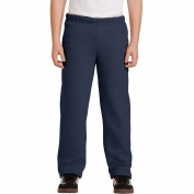 Gildan 18400B Youth Heavy Blend Open Bottom Sweatpants - Navy