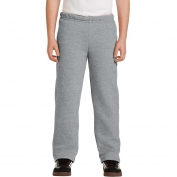 Gildan 18400B Youth Heavy Blend Open Bottom Sweatpants - Sport Grey