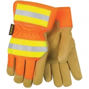 Memphis 19261 Luminator Grain Pigskin Leather Gloves - Thermosock Lined - Reflective Back