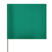 Presco Plain Wire Staff Marking Flags - 2x3 - 15 inch Staff - Green