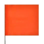 Presco Plain Wire Staff Marking Flags - 2x3 - Orange Glo - 18 inch Staff - 100 Bundle