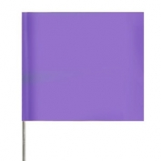 Presco Plain Wire Staff Marking Flags - 2x3 - Purple - 18 inch Staff - 100 Bundle