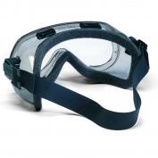 Crews Verdict Safety Goggles - Neoprene Strap - Foam Lined Smoke Frame - Clear Anti-Fog Lens