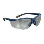Bouton Hi-Voltage AC Safety Glasses - Blue Frame - Clear Anti-fog Lens