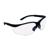 Bouton Hi-Voltage AC Safety Glasses - Black Frame - Indoor/Outdoor Mirror Lens