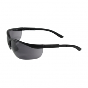 Bouton Hi-Voltage AC Safety Glasses - Black Frame - Gray Anti-Fog Lens
