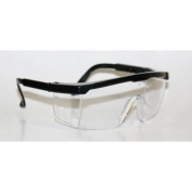 Bouton Hi-Voltage ARC Safety Glasses - Black Frame - Clear Lens