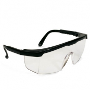 Bouton Hi-Voltage ARC Safety Glasses - Black Frame - Clear Non-Coated Lens
