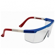 Bouton Hi-Voltage ARC Safety Glasses - Red/White/Blue Frame - Clear Lens
