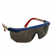 Bouton Hi-Voltage ARC Safety Glasses - Red/White/Blue Frame - Gray Lens