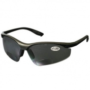 Bouton 250-25-01 MAG Readers Safety Glasses - Black Frame - Gray Bifocal Lens