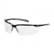 Bouton Commander Safety Glasses - Black Frame - Clear Anti-Reflective Lens