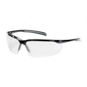Bouton Commander Safety Glasses - Black Frame - Clear Anti-Fog Lens