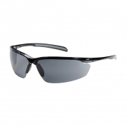 Bouton Commander Safety Glasses - Black Frame - Gray Anti-Fog Lens