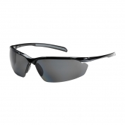 Bouton Commander Safety Glasses - Black Frame - Polarized Gray Lens