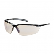 Bouton Commander Safety Glasses - Black Frame - Indoor/Outdoor Blue Anti-Fog Lens
