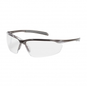 Bouton Commander Safety Glasses - Bronze Frame - Clear Anti-Fog Lens