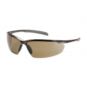 Bouton Commander Safety Glasses - Bronze Frame - Brown Anti-Fog Lens