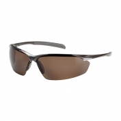 Bouton Commander Safety Glasses - Bronze Frame - Polarized Brown Lens