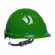 JSP Evolution 6131 Deluxe Hard Hat - Slip Ratchet Suspension - Green