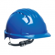 JSP Evolution 6131 Deluxe Hard Hat - Slip Ratchet Suspension - Blue