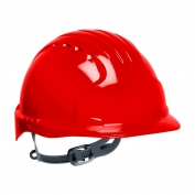 JSP Evolution 6131 Deluxe Hard Hat - Slip Ratchet Suspension - Red