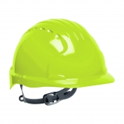JSP Evolution 6131 Deluxe Hard Hat - Slip Ratchet Suspension - Hi-Viz Lime