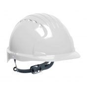 JSP Evolution 6131V Deluxe Vented Hard Hat - Slip Ratchet Suspension - White