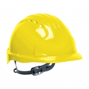 JSP Evolution 6131V Deluxe Vented Hard Hat - Slip Ratchet Suspension - Yellow