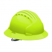 JSP Evolution 6141 Deluxe Full Brim Hard Hat - Slip Ratchet Suspension - Hi-Viz Lime