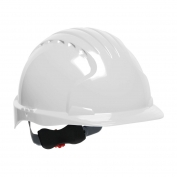 JSP Evolution 6151 Deluxe Hard Hat - Wheel Ratchet Suspension - White