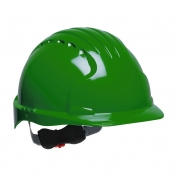 JSP Evolution 6151 Deluxe Hard Hat - Wheel Ratchet Suspension - Green